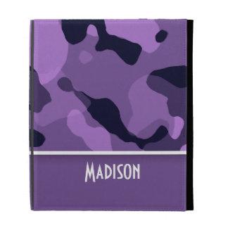 Dark Lavender Camo; Personalized iPad Cases