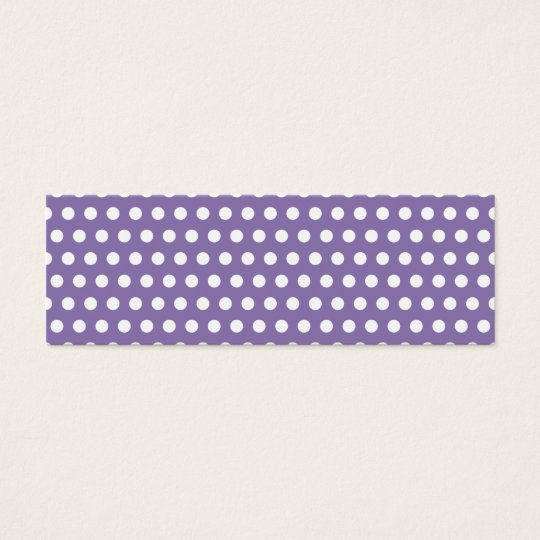Dark Lavender with White Polka Dots Mini Business Card