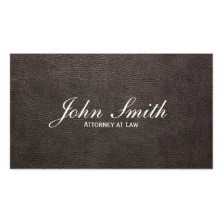 Dark Leather Attorney Business Card