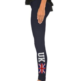 Dark leggings with British flag | Union Jack