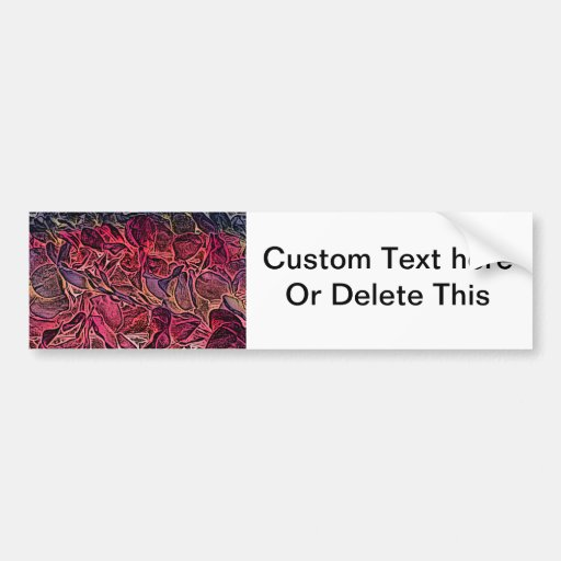 dark lei pink abstract sketch neat background bumper stickers