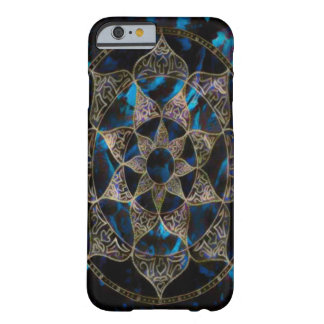 Dark Lotus Flower Mandala Acrylic Art Barely There iPhone 6 Case