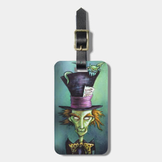 Dark Mad Hatter from Alice in Wonderland Luggage Tag