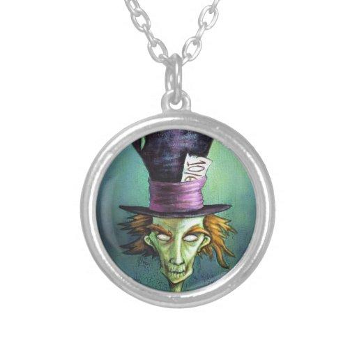 Dark Mad Hatter from Alice in Wonderland Necklace
