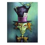 Dark Mad Hatter from Alice in Wonderland Post Card