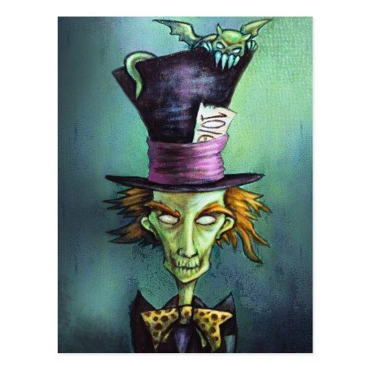 Dark Mad Hatter from Alice in Wonderland Postcard