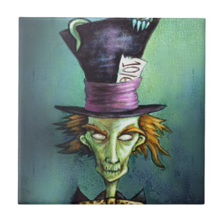 Dark Mad Hatter from Alice in Wonderland Tile