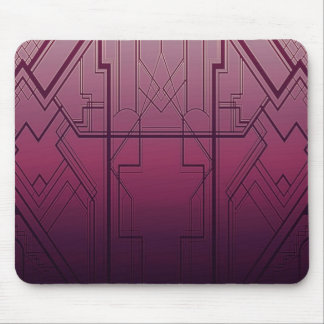 Dark Magenta Art Deco Mousepad