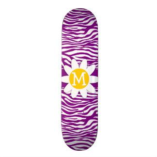Dark Magenta Zebra Stripes; Daisy Skate Boards