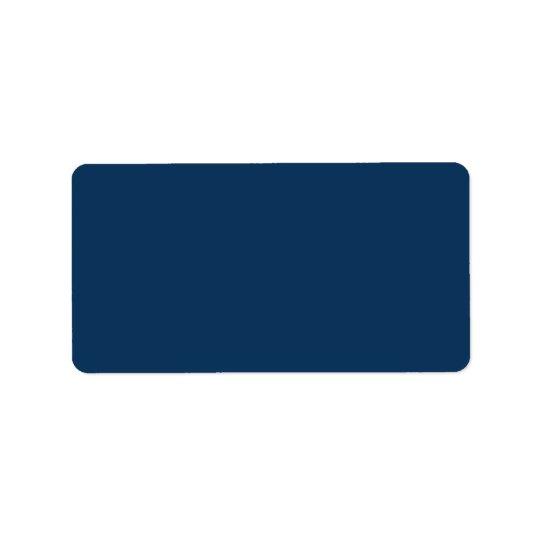 Dark marine blue background blank custom label address label