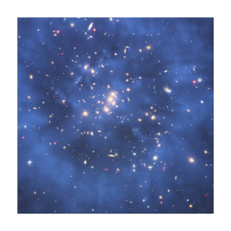 Dark Matter Ring in a Galaxy Cluster Canvas Print