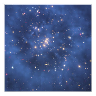 Dark Matter Ring in a Galaxy Cluster Photograph