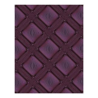 Dark Mauve Abstract Pattern 21.5 Cm X 28 Cm Flyer