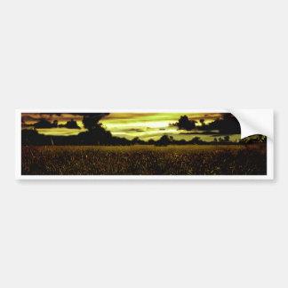 Dark Meadow Landscape Bumper Sticker