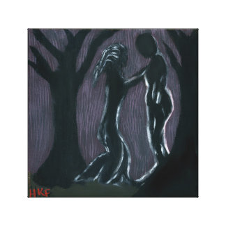 Dark Meeting Giclee Canvas Print