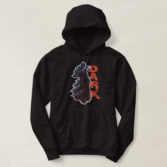 Dark Men's Basic Hooded Sweatshirt