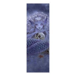 Dark Mermaid Bookmark Business Card