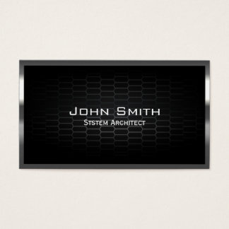 Dark Metal Cells System Architect Business Card