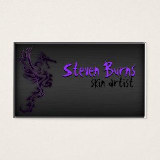 Dark Metal Dragon in Purple Business Card
