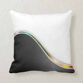 Dark Metallic Abstract Throw Pillow