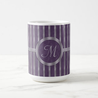 Dark Metallic Purple Monogram Coffee Mug
