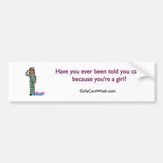 Dark Military Girl in Camo Bumper Sticker