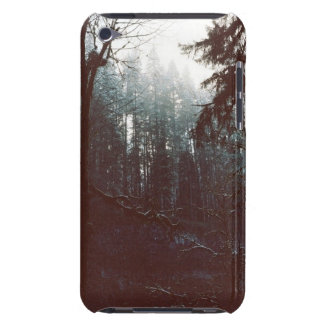 Dark misty Forest Barely There iPod Cover