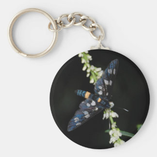 dark moth basic round button key ring