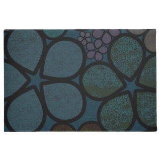 Dark Multicolored Floral Welcome Mat