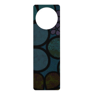 Dark Multicolored Modern Textured Circle Florals Door Knob Hangers