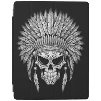 Dark Native Sugar Skull with Headdress iPad Cover