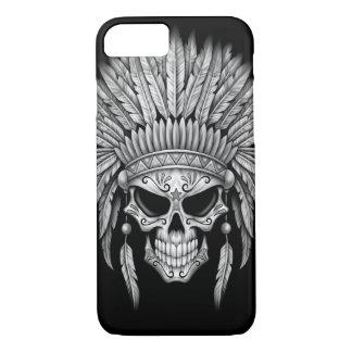 Dark Native Sugar Skull with Headdress iPhone 8/7 Case