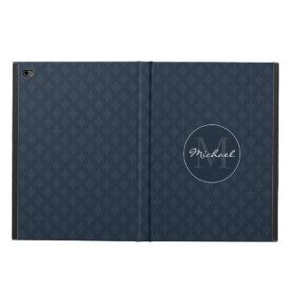 Dark Navy Blue Masculine Personalized Monogram Powis iPad Air 2 Case