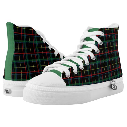 Dark Navy/Red/Green High Top Sneakers