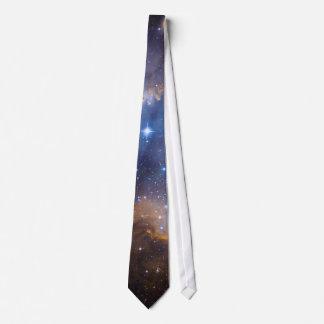 Dark Nebula and Stars Photo Template Tie