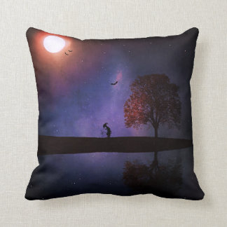 Dark Night Fantasy Pillow