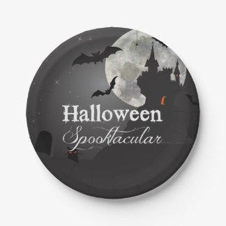 Dark Night Halloween Spooktacular Party Paper Plate