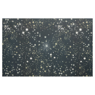 Dark Night Sky With Stars Fabric