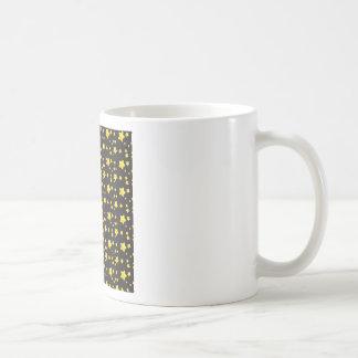 Dark night sky with stars pattern coffee mug