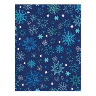 Dark night stars pattern postcard