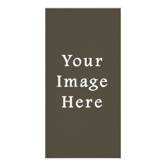 Dark Olive Green Green Color Trend Blank Template Personalized Photo Card
