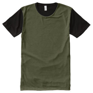 DARK OLIVE GREEN (solid color background) ~.jpg All-Over Print T-Shirt