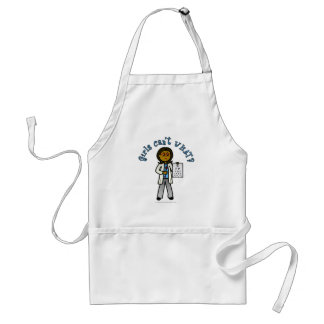 Dark Optometrist Girl Standard Apron