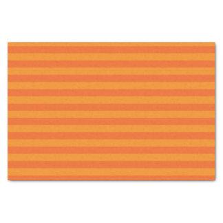 Dark Orange and Pumpkin Orange Stripes Tissue Paper