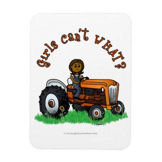 Dark Orange Farmer Girl Rectangular Photo Magnet