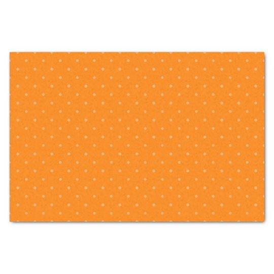 Dark Orange & Light Orange Polka Dots Tissue