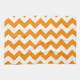 Dark Orange Zigzag Tea Towel