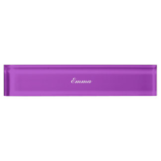 Dark Orchid Personalized Desk Name Plate