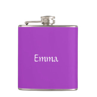 Dark Orchid Personalized Flask