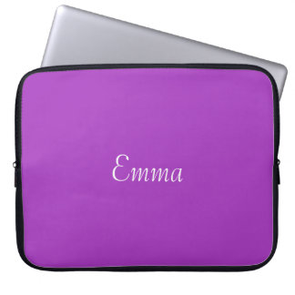 Dark Orchid Personalized Laptop Sleeve